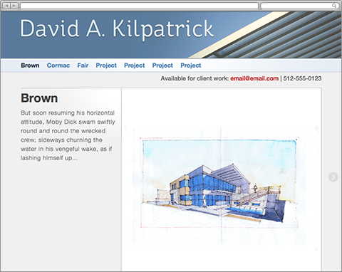 David Kilpatrick S Architectural Portfolio Branding And Web Design